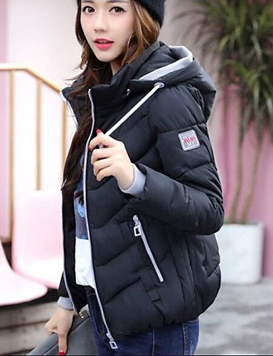 Cotton Casual out Polyester Padded Solid Sexy Work m Short Daily Long Cute TT Women's Acrylic Going amp;SHANGYI Polyester Simple Coat Sleeves qxfzn6vwS