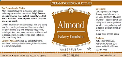 Lorann Oils Almond Bakery Emulsion 16 Oz.