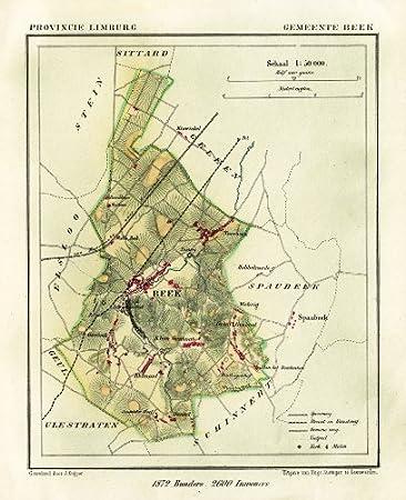 Amazon.de: ThePrintsCollector Antik map-netherlands-town ...