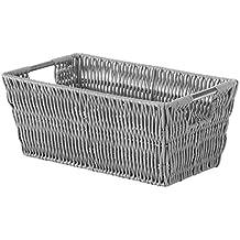 Whitmor Rattique Small Shelf Tote Paloma Grey