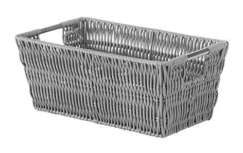 Whitmor Rattique Small Shelf Tote Paloma Grey ()