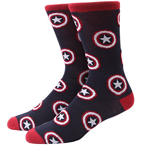 Captain America Shield Tossed Adult Crew Socks