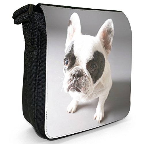 Shoulder Bag Small Bulldog English Size Black British Cute Puppy Canvas wXOYqx7