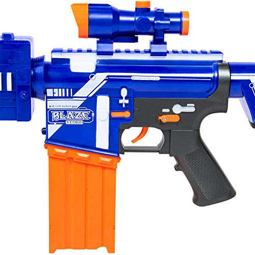 Best Choice Products Kids Soft Foam Semi-Automatic Dart Blaster Shooter Toy Gun w/ Load Cartridge, Sight Attachment, Long Distance Range, 20 Darts - Multicolor by Best Choice Products (Image #3)