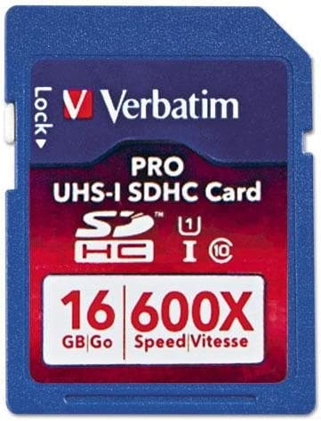 VER98046 Pro 600X SDHC Memory Card