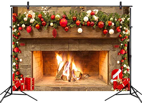 LB Christmas Fireplace Backdrop