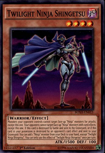 (2016 Yu-Gi-Oh Breakers of Shadow 1st Edition #BOSHEN015 Twilight Ninja Shingetsu C - NM-MT)