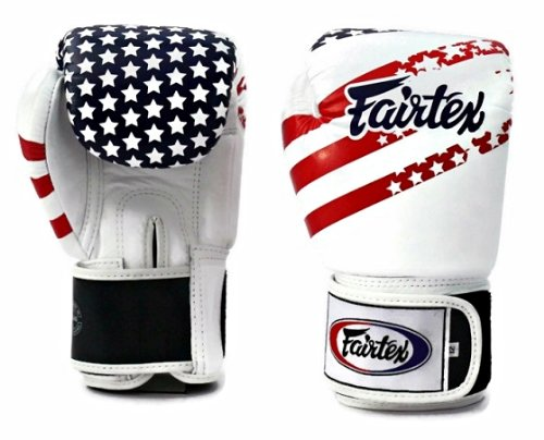 Fairtex Boxing Gloves - BGV1 USA Flag, 12 14 16 oz. Training, Sparring Gloves for Muay Thai, Kick Boxing, MMA (14 oz)