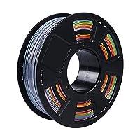 Zi-Rui 3D Printer PLA Filament,Rainbow Multi Color Gradient,1.75 mm,Dimensional Accuracy +/- 0.03 mm,1KG (2.2lbs) Spool. from Zi-Rui