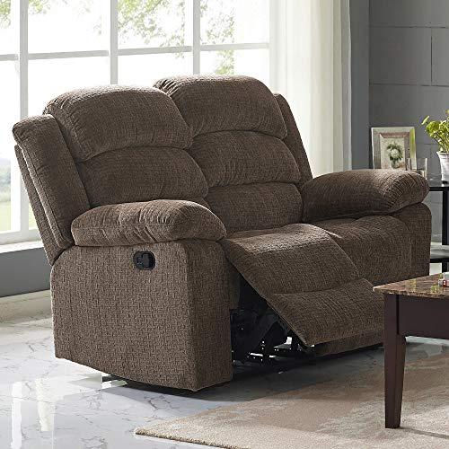(New Classic Furniture 22-2134-22PH-UCH Austin Full Power Loveseat with Power Headrest, Power, Chocolate)