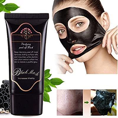 Blackhead Remover Mask,Black Head Facial Mask Cherioll 50 ml Deep Cleansing Purifying Peel-off Mask,Black Mud Face Mask,Blackhead Cleansing Mask