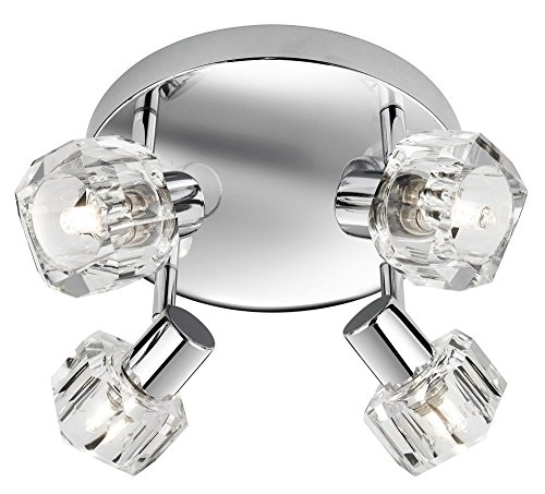 Contemporary Ceiling Spotlight - Lightess Ceiling Light Modern Crystal Glass Ice Cube 4 Spotlights, 40W