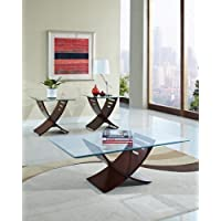 Acme 80102 3-Piece Elhan Coffee/End Table Set, Cherry Finish