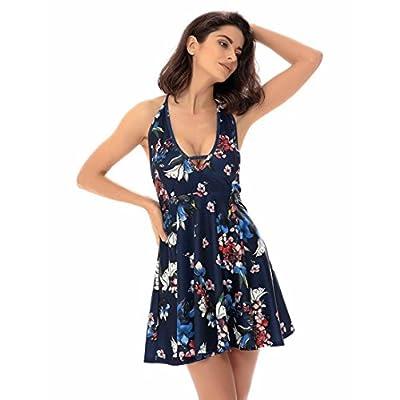 TOOPOO Womens Summer Sleeveless Dress Beach Short Mini Dress