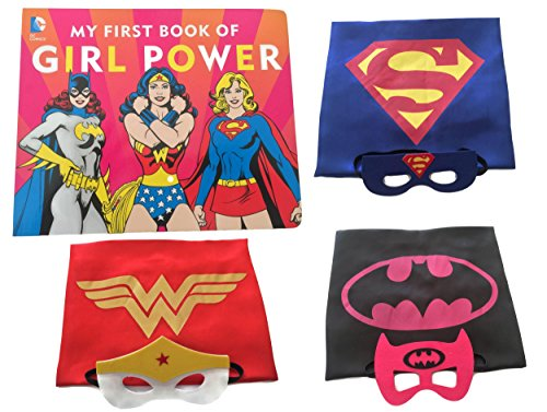 [Girl Power Superhero Storytime Gift Set - Book with Costume Capes and Masks] (Batgirl Costumes Set)
