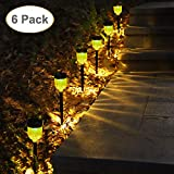 GELOO Solar Lights Outdoor, 6 Pack Outdoor Garden Lights Solar Pathway Lights Landscape Lighting Weatherproof Auto On/Off for Garden Lawn Patio Yard Walkway Sidewalk Driveway For Sale