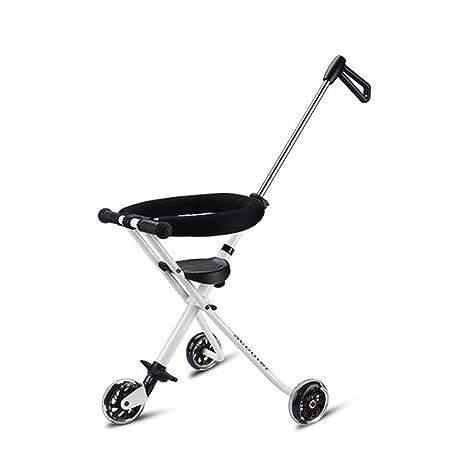Baby stroller- Carro de triciclo para niños Bebé Ligero plegable Valla simple Niño Cochecito de