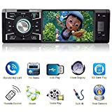 Indash Car Stereo with Bluetooth Single Din FM Radio for Car and MP5 Player USB/SD/AUX/FM Receiver Wireless Remote Control ...