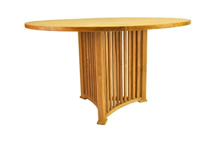 Mission Round Table.Amazon Com Anderson Teak Mission Round Table 51 Inch Garden Outdoor