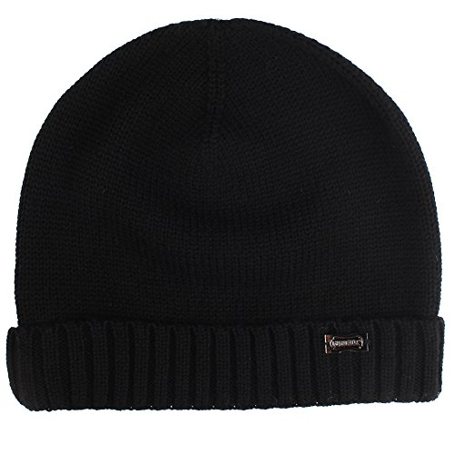 Mens Knit Black Beanie Hat Cashmere Wool Winter Hats And Skull Caps For Men FURTALK Original