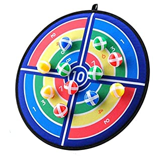 Kids Board Game, Dart Board Game Set with Fashion Pattern, 12 Hook and Loop Sticky Balls, Family Fun Best Toy Gift for Boys and Girls, Indoor Outdoor Classic Games, Diameter 14.2 Inches …