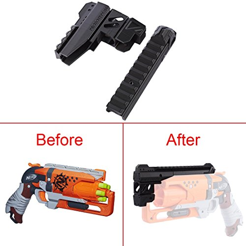 FenglinTech Maliang 3D Printing Appearance Decoration Part for Nerf Zombie Strike Hammershot Blaster - (Black)