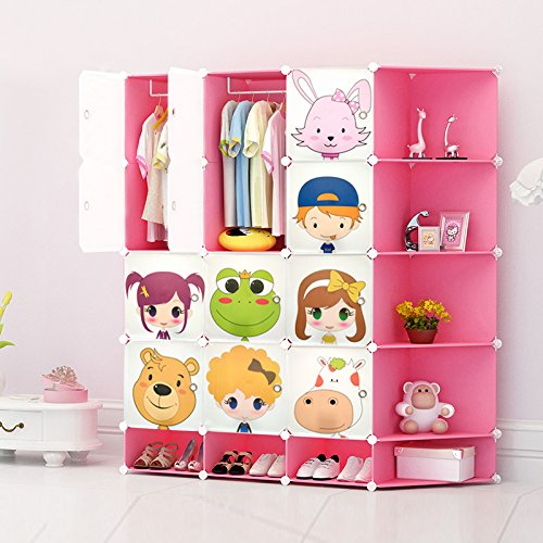 NEW Kids 12 Cubes Wardrobe Childrens Storage Cabinet Boxes Character Design  Shoes Storage Corner Storage Cubes