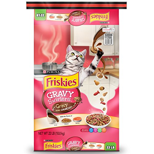 Purina Friskies Dry Cat Food; Gravy Swirlers - 22 lb. Bag