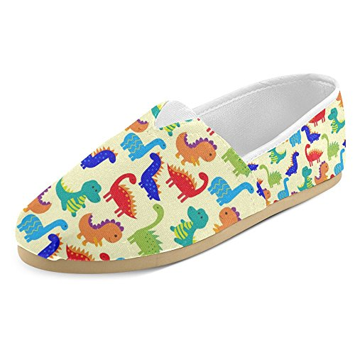 InterestPrint Womens Loafers Classic Casual Canvas Slip On Fashion Shoes Sneakers Flats Multi 9 wAieU