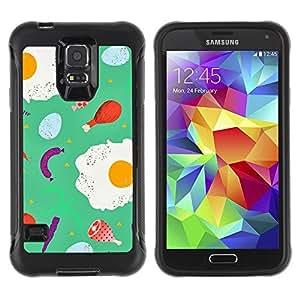 """Pulsar iFace Series Tpu silicona Carcasa Funda Case para Samsung Galaxy S5 V , Alimentos trullo abstracto del cocinero del cocinero abstracto"""""""