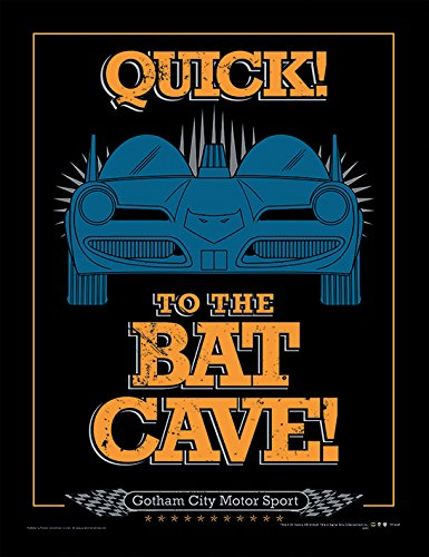 iPosters Batman To The Bat Cave Framed 30 x 40 Official Print - Overall Size: 36 x 46 cm (14 x 18 inches) Print Size: 30 x 40 cm