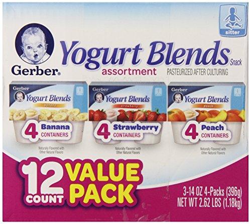 Gerber Yogurt Blends Assortment Snacks, 12 Count, Net Wt. 2.62 lb by Gerber (Image #3)'