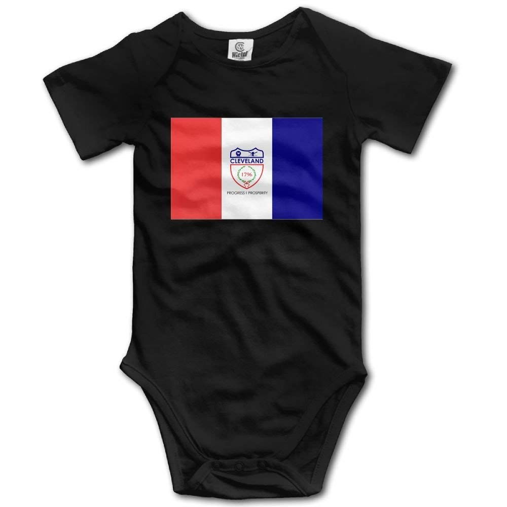 glabery Flag of Cleveland Casual Newborn Babys 0-24 Months Baby Climbing Clothing Baby Creeper for Toddler Boys Girls
