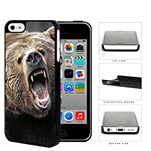 Angry Grizzly Bear Close-up Portrait Hard Plastic Snap On Cell Phone Case Apple iPhone 5c