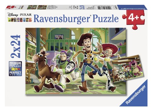 Buzz Puzzle Lightyear (Ravensburger Disney Pixar: The Toys at Day Care (2 x 24-Piece) Puzzles in a Box)