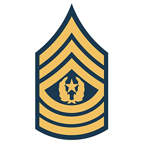 US Army - Command Sergeant Major E-9 Decal - Five Inch Tall Full Color Decal, (Major Decals)