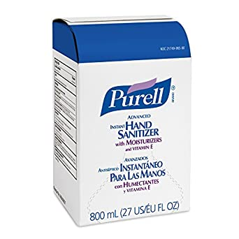 PURELL 965606CT Instant Hand Sanitizer Refill Bag-In-Box, 800mL (Case of 6)