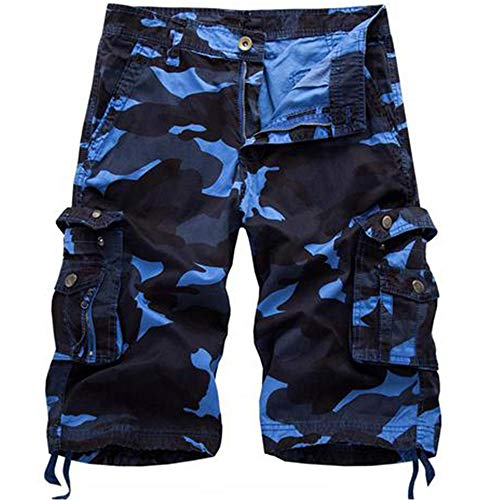 Osmyzcp Mens Cotton Relaxed Fit Outdoor Camouflage Camo