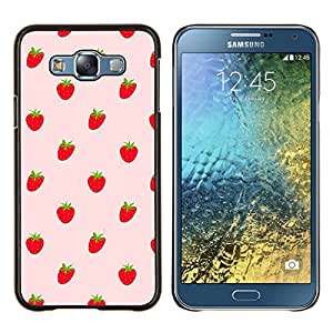 LECELL--Funda protectora / Cubierta / Piel For Samsung Galaxy E7 E700 -- Fresas Bayas rojas Wallpaper Fresh Food --