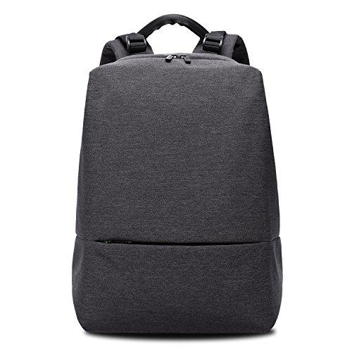 KAKA Mens Brief Casual Multifunctional Water Resistant Shoulder Backpack Travel 15.6-inch Laptop Schoolbag Busines Rucksack (black)