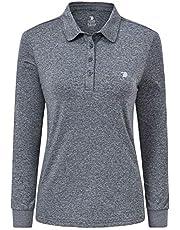 AIRIKE Womens Golf Shirts Long Sleeve Tennis Polo Shirts Quick Dry Basic Athletic Top