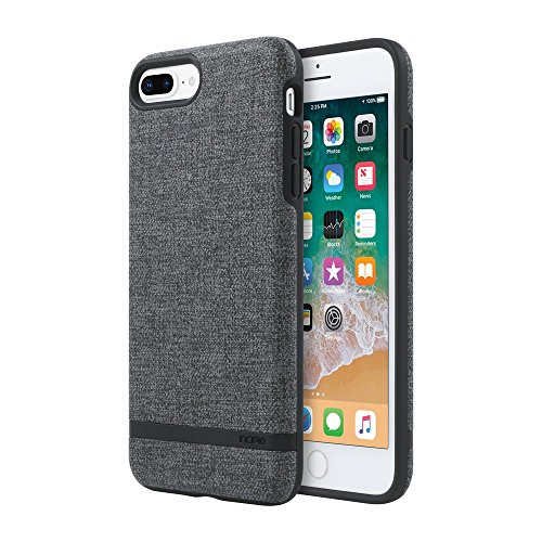 Incipio Carnaby iPhone 8 Plus & iPhone 7 Plus Case [Esquire Series] with Co-Molded Design and Ultra-Soft Cotton Finish for iPhone 8 Plus & iPhone 7 Plus - Gray from Incipio