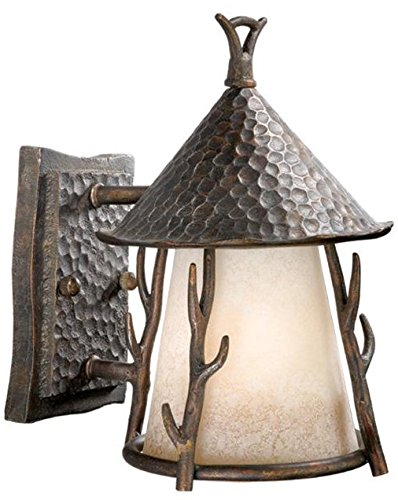 Wood Sconce Standard (Vaxcel One Light Outdoor Wall Light WD-OWD070AA One Light Outdoor Wall Light)