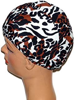 product image for Extra Large Leopard Lycra Swim Cap (XL)