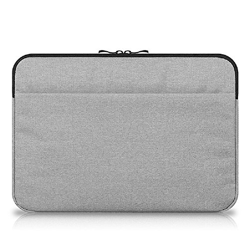 Funnylive Protective Laptop Sleeve Bag Notebook Case Zipper Laptop Sleeve Bag Case Cover For Macbook Mac Air/Pro/Retina 11'' 12'' 13'' 15'' (Gray, 12'' - 12.8'') by Funny live
