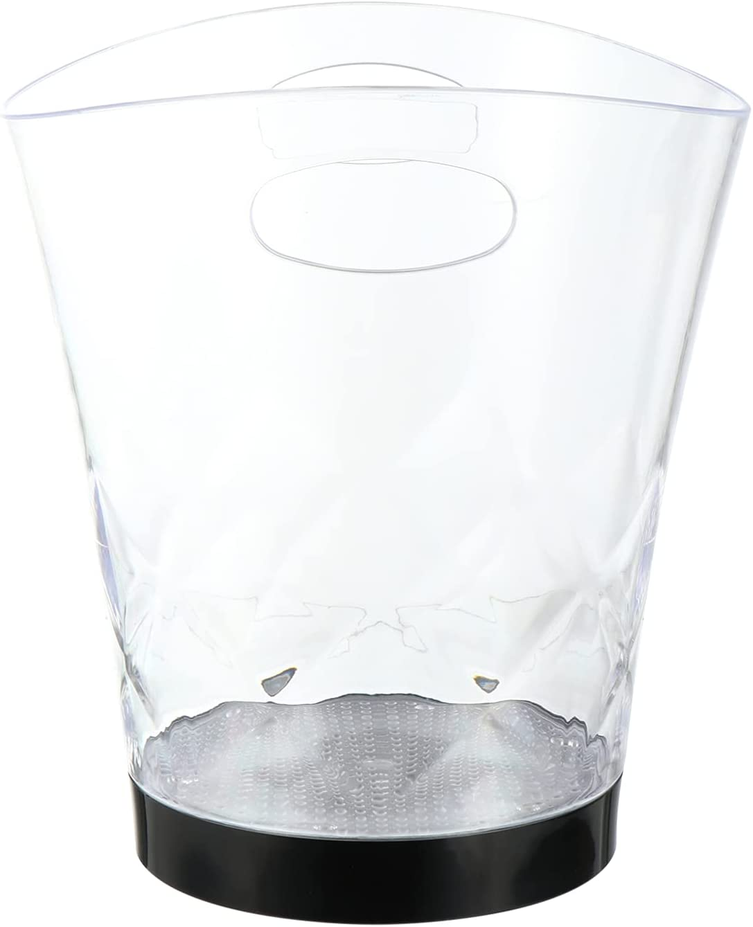 Hemoton LED Ice Buckets Clear Acrylic Ice Bucket Colors Changing LED Cooler Bucket Champagne Wine Drinks Beer Bottles Container for Home Party Bar