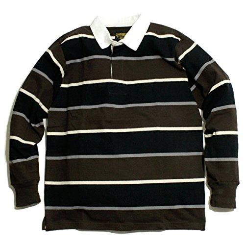 ピービッシュがっかりしたコンテンポラリーUNIVERD72 ラガーシャツ 長袖 シャツ マルチ ボーダー アメカジ L