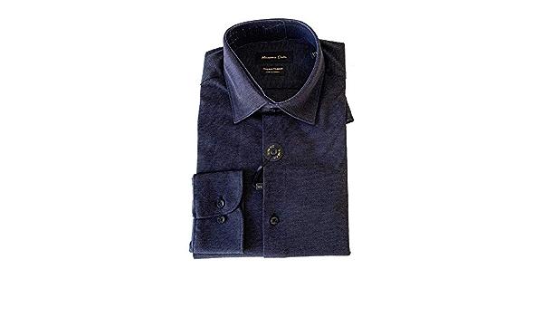 MASSIMO DUTTI Men 0165/365/400 - Camisa de algodón Ajustada ...