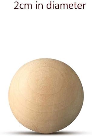 Yeloye Bola de Madera Maciza Globo Manual Accesorios de Bricolaje Madera Color Bola de Madera Bola Grande Bola Pintada