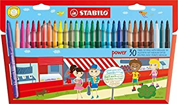 Stabilo Power Wallet Coloring Pens , Set of 30 , Multicolored MacPherson' s 015188